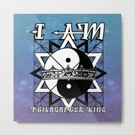 I AM - Philosopher King Metal Print