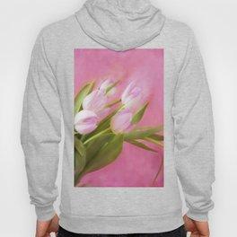 Graceful Pink Tulips Hoody