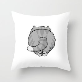 The Striped Cat Throw Pillow