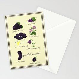 Colors: purple (Los colores: morado) Stationery Cards