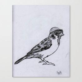 Nerdy Birdy Canvas Print