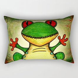 Frank the Red-Eyed Tree Frog Rectangular Pillow