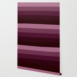 Burgundy Stripes Thick Wallpaper