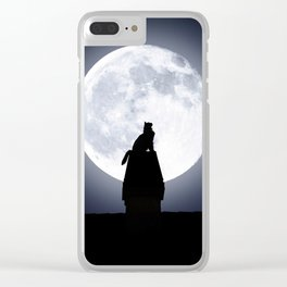 Cat by Day, Vigilante by Night Clear iPhone Case
