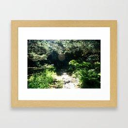 Alaska Sunlight Path Framed Art Print