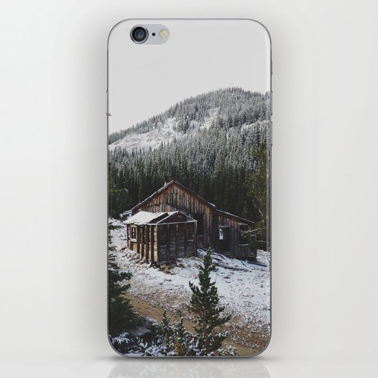 Snowy Cabin iPhone & iPod Skin