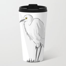 Grey Heron Minimalist Travel Mug