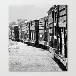 Old livestock train.   Canvas Print