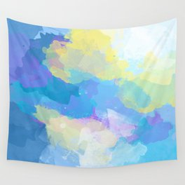 Colorful Abstract - blue, pattern, clouds, sky Wall Tapestry
