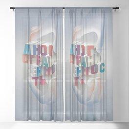 versatility wins! poster Sheer Curtain