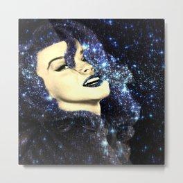 Baby, You're A Star : Navy Blue Galaxy Metal Print