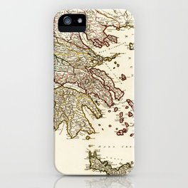 1752 Map of Greece iPhone Case