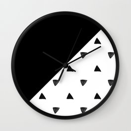Triangle and triangles Wall Clock