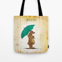 wildlife Tote Bags featuring Wildlife by AhaC