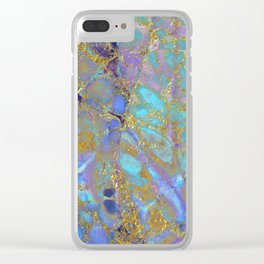Where Mermaids Sing #buyart #marbled #decor #society6 Clear iPhone Case