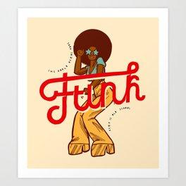 Funk Girl Art Print