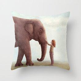 One Amazing Elephant Throw Pillow