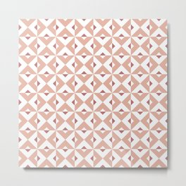 Pink Cross Pattern Metal Print