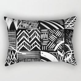 Grid lino print Rectangular Pillow