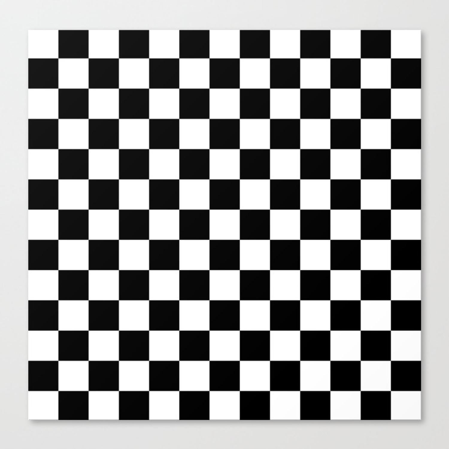 Race Flag Black And White Checkerboard