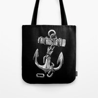 anchor Tote Bags featuring Anchor by pakowacz