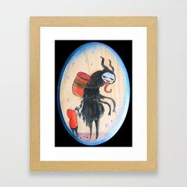 The Not So Silent Night (Krampus) Framed Art Print