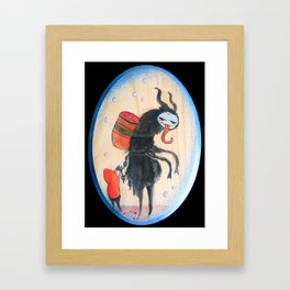 The Not So Silent Night (Krampus) Framed Art Print