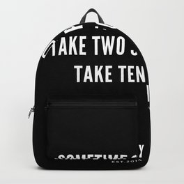 4  | Nipsey Hussle Quotes Backpack