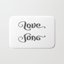 LOVE SONG ambigram Bath Mat
