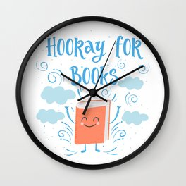 Hooray For Books Wall Clock