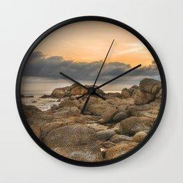 Stones, Ocean and Heaven Wall Clock