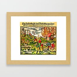 Cannibalism in Russia and Lithuania 1571 Framed Art Print