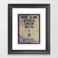 Historical Cemetery Bristol, RI Framed Art Print