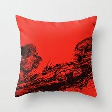 Intense Chasing II Throw Pillow