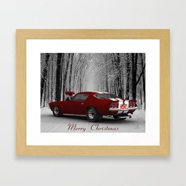 #MerryChristmas Camaro by @ernhrtfan Framed Art Print