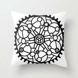 Bike Mandala Glass Throw Pillow