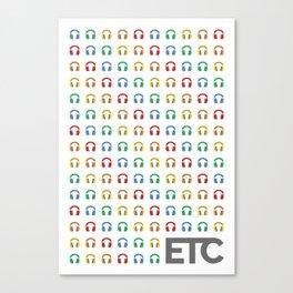 ETC Kid Sub Badge Rainbow Canvas Print