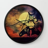 catwoman Wall Clocks featuring catwoman by Ancello