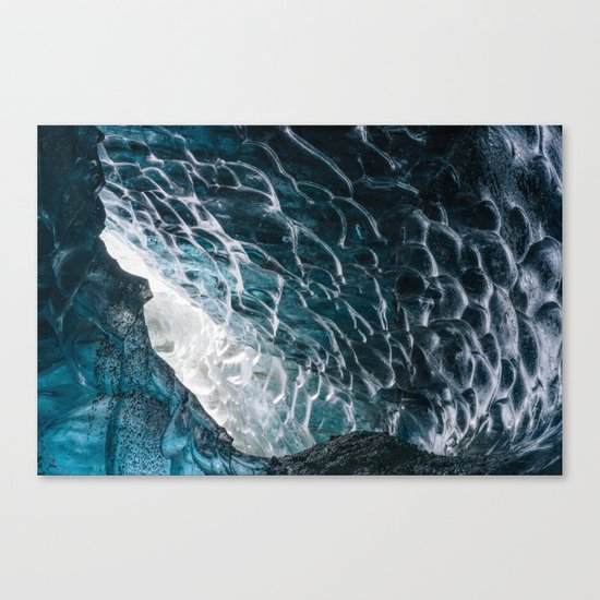 Cave of waves Canvas Print