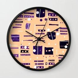 Color square 09 Wall Clock