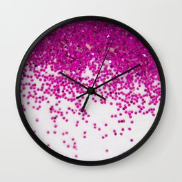 Fun I (NOT REAL GLITTER) Wall Clock