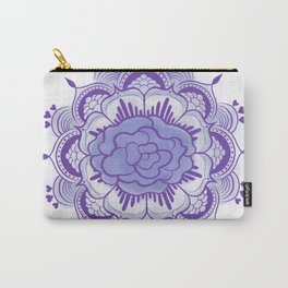 Purple Mandala Carry-All Pouch