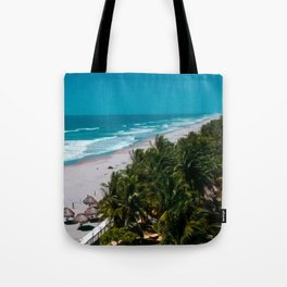 Waves and Palms Tote Bag