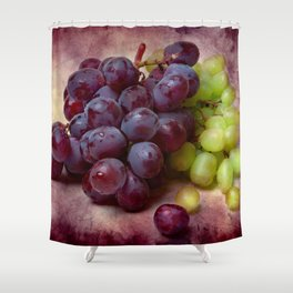 Grapes Red And Green Shower Curtain