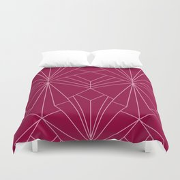 Art Deco in Raspberry Pink - Large Scale Duvet Cover