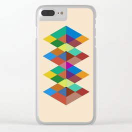 Abstract #721 Clear iPhone Case