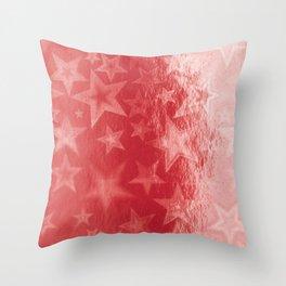 Scarlet Starshine Throw Pillow