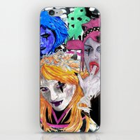modern vampires of art history iPhone & iPod Skins featuring Vampires by Vicious East