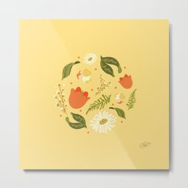 Autumn Floral Metal Print