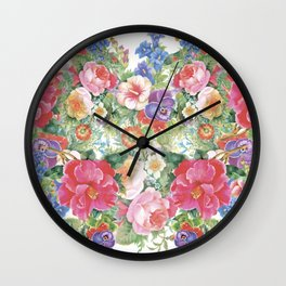 Colorful Blossom Wall Clock